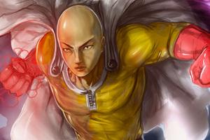 One Punch Man Artwork 4k