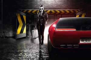 Opel In Sin City 8k Wallpaper