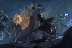 Operation Spearbreaker Engagement Halo Wars 2 Wallpaper
