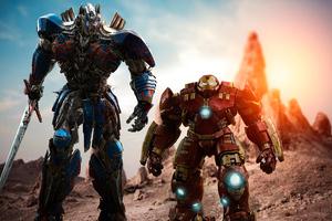 Optimus Prime And Hulk Buster 4k