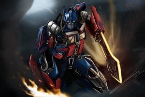 Optimus Prime Painting 4k