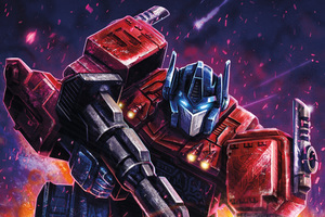 Optimus Prime Transformers Digital Art Wallpaper