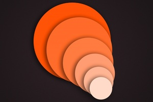 Orange Abstract Circle Geometry Wallpaper