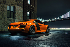 Orange Audi R8 4k Wallpaper