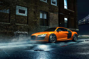 Orange Audi R8 Wallpaper