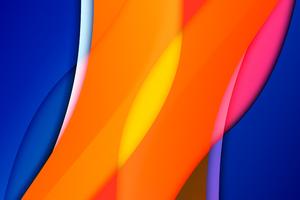 Orange Blue Mango Abstract 8k Wallpaper