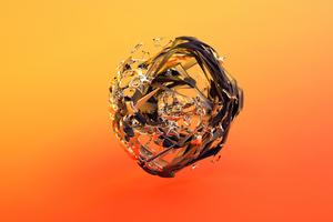Orange Circle Glass Justin Maller Wallpaper