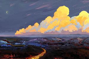 Orange Clouds 5k