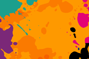 Orange Colour Splashes 8k Wallpaper
