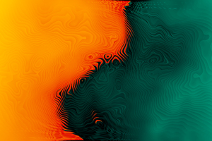 Orange Green Abstract 4k Wallpaper