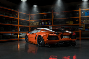 Orange Lamborghini 4k 2019