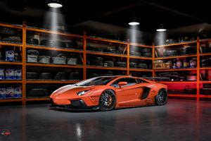 Orange Lamborghini 4k