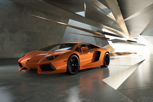 Orange Lamborghini 5k