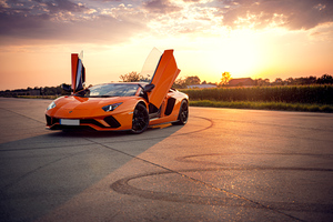 Orange Lamborghini Aventador 4k Wallpaper
