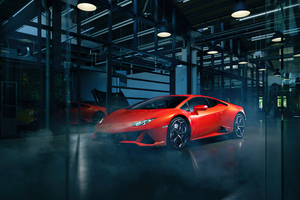 Orange Lamborghini Huracan 4k 2020 Wallpaper