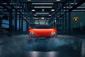Orange Lamborghini Huracan 4k New Wallpaper