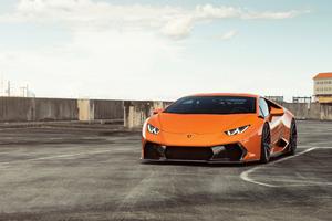 Orange Lamborghini Huracan 8k 2018