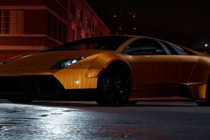 Orange Lamborghini Need For Speed Wallpaper