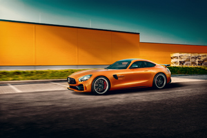 Orange Mercedes Benz Amg GT Wallpaper