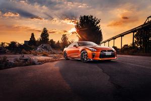 Orange Nissan GTR Wallpaper