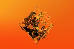 Orange Polygon Glass Justin Maller Wallpaper