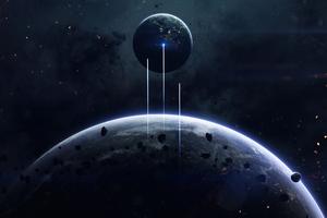 Outside Space Planet Wallpaper