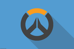 Overwatch Material Design Logo Wallpaper