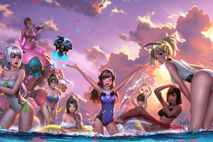 Overwatch Party Wallpaper