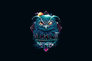 Owl Abstract Art 4k Wallpaper