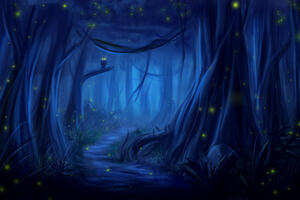Owl Forest Fantasy Dreamy Wallpaper