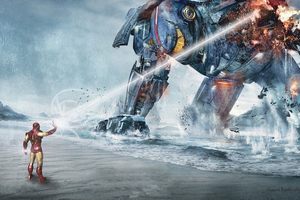 Pacific Rim Vs Ironman 4k Wallpaper