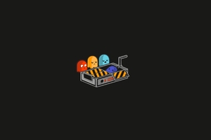 Pacman Minimal 4k Wallpaper