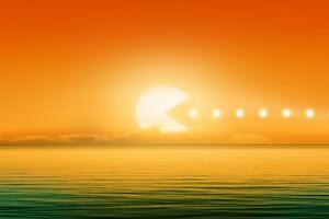 Pacman Sun Wallpaper