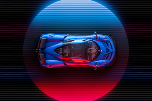 Pagani Huayra Art 4k Wallpaper