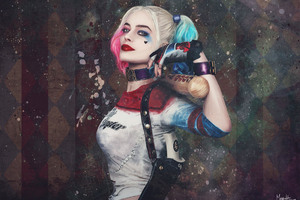 Paint Art Harley Quinn