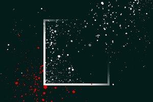 Paint Splatter Dots Minimalism Wallpaper