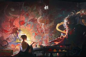 Painting Queen 4k Wallpaper