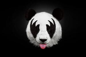 Panda 4k Artwork Wallpaper
