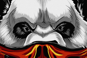 Panda Face Mask 4k