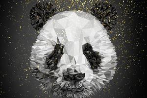 Panda Low Poly 4k Wallpaper