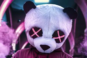Panda Neon Eyes 4k Wallpaper