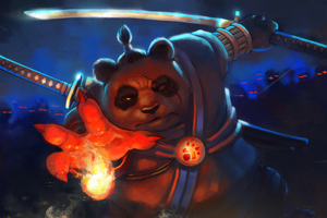 Panda Warrior Wallpaper