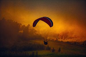 Parachuting Landscape Nature