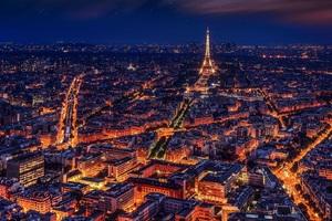 Paris France Eiffel Tower Night Wallpaper