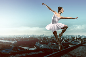 Paris Opera Girl Wallpaper