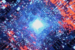 Particles Art 4k Wallpaper