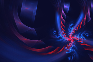Passion Apophysis Fractal Blue 4k Wallpaper