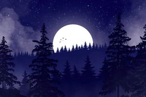 Peaceful Evening Minimal 5k Wallpaper