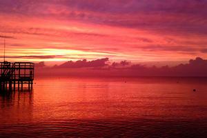 Peaceful Sunset 5k Wallpaper