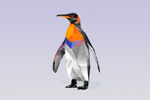 Penguin Abstract Wallpaper